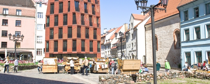 New bricks in Riga's historic centre